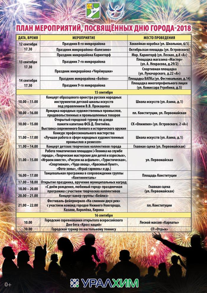День города Кирово-Чепецк 15 сентября 2018 – программа, когда салют